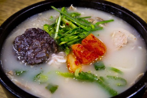 韓国料理 スンデクッパ