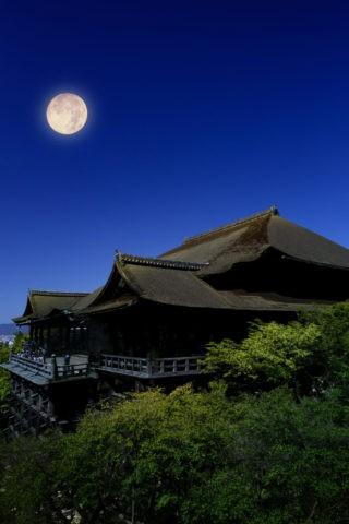 清水寺 月