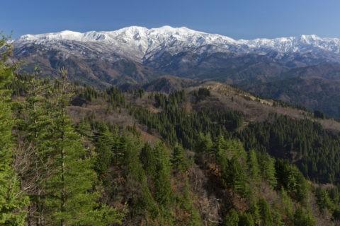 新雪の白山