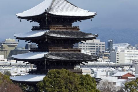 東寺 雪景色