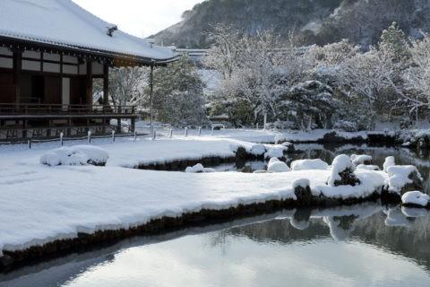 天龍寺 雪景色