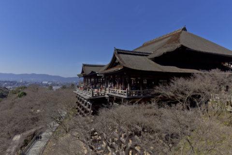 冬枯れの清水寺