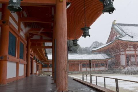 平安神宮 雪
