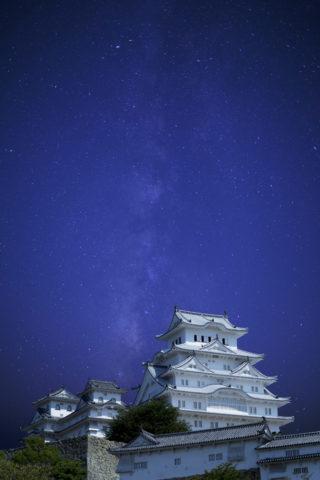 姫路城 星空