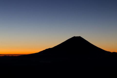 富士山 夜明け前