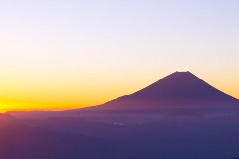 富士山 夜明け