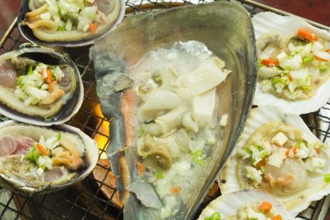 韓国 貝料理