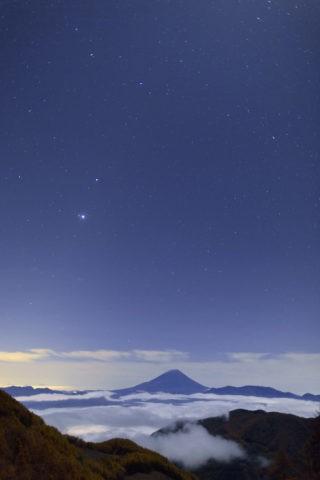 富士山 星空