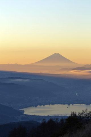 高ボッチからの富士山