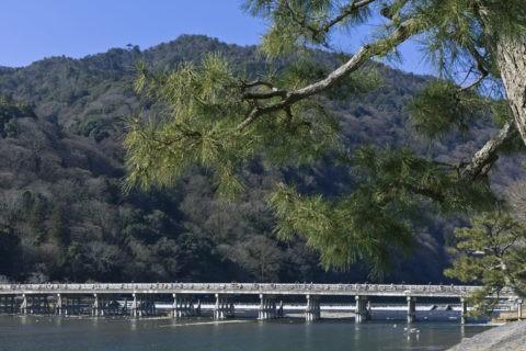 冬枯れの嵐山渡月橋