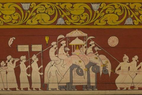 仏歯寺 壁画