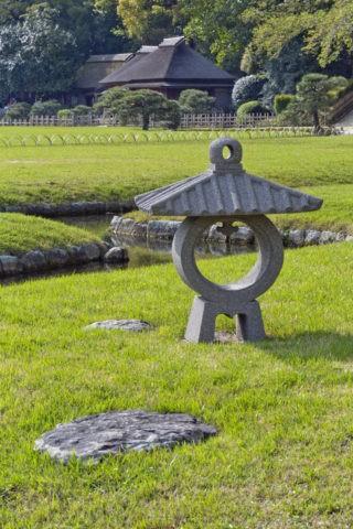 後楽園 石灯籠