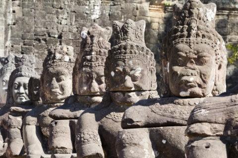 アンコール・トム 南大門の阿修羅像