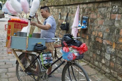 綿菓子売り