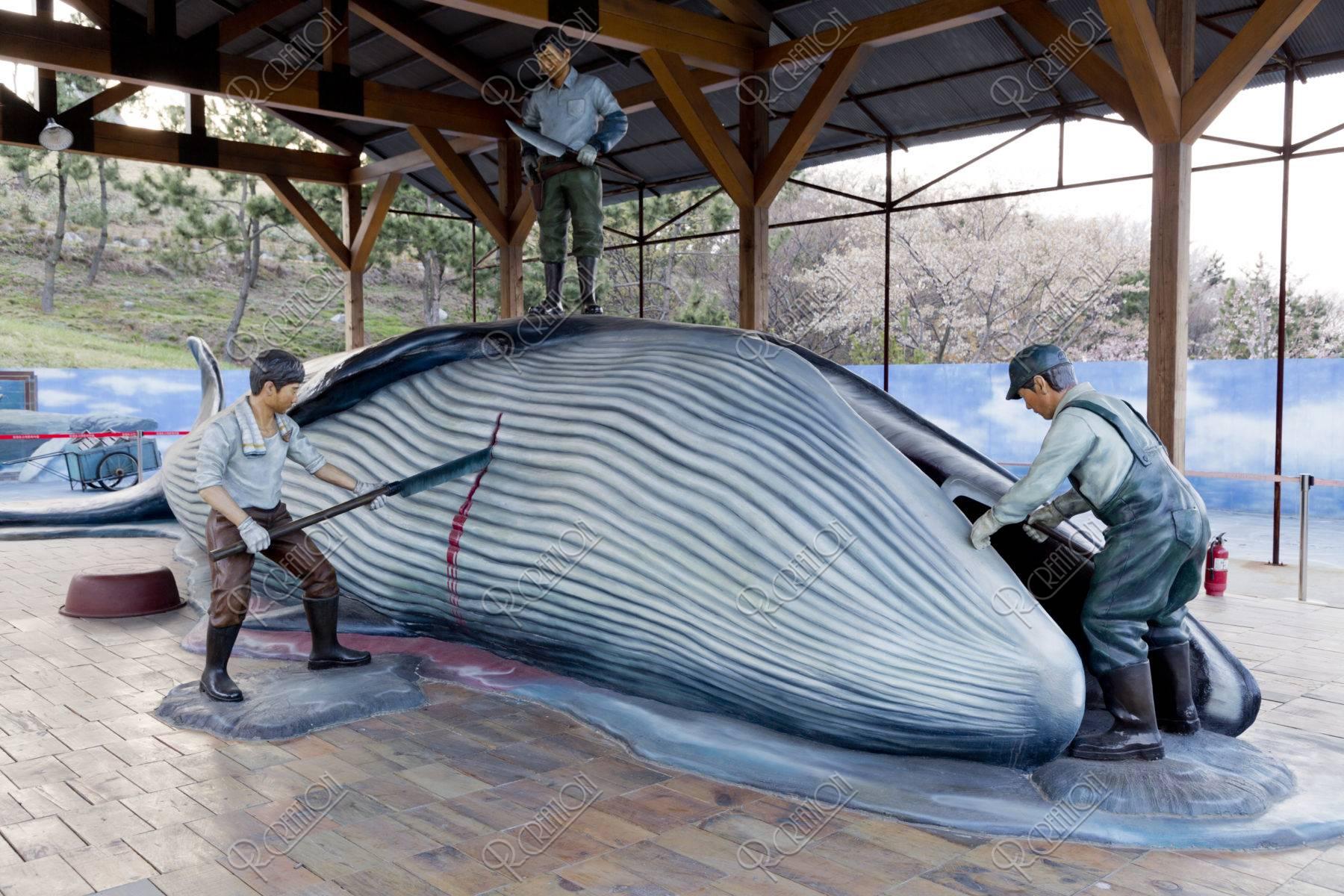 長生捕鯨文化村 鯨解体