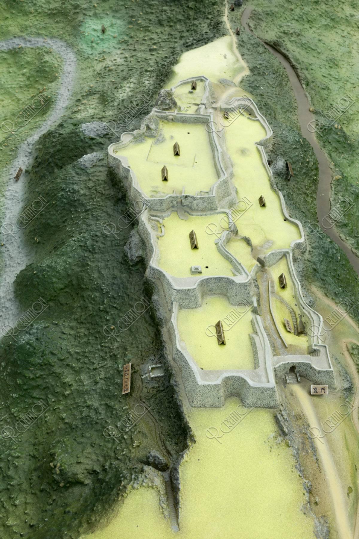 中城城跡 ジオラマ