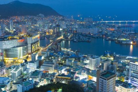 釜山タワーからの夜景