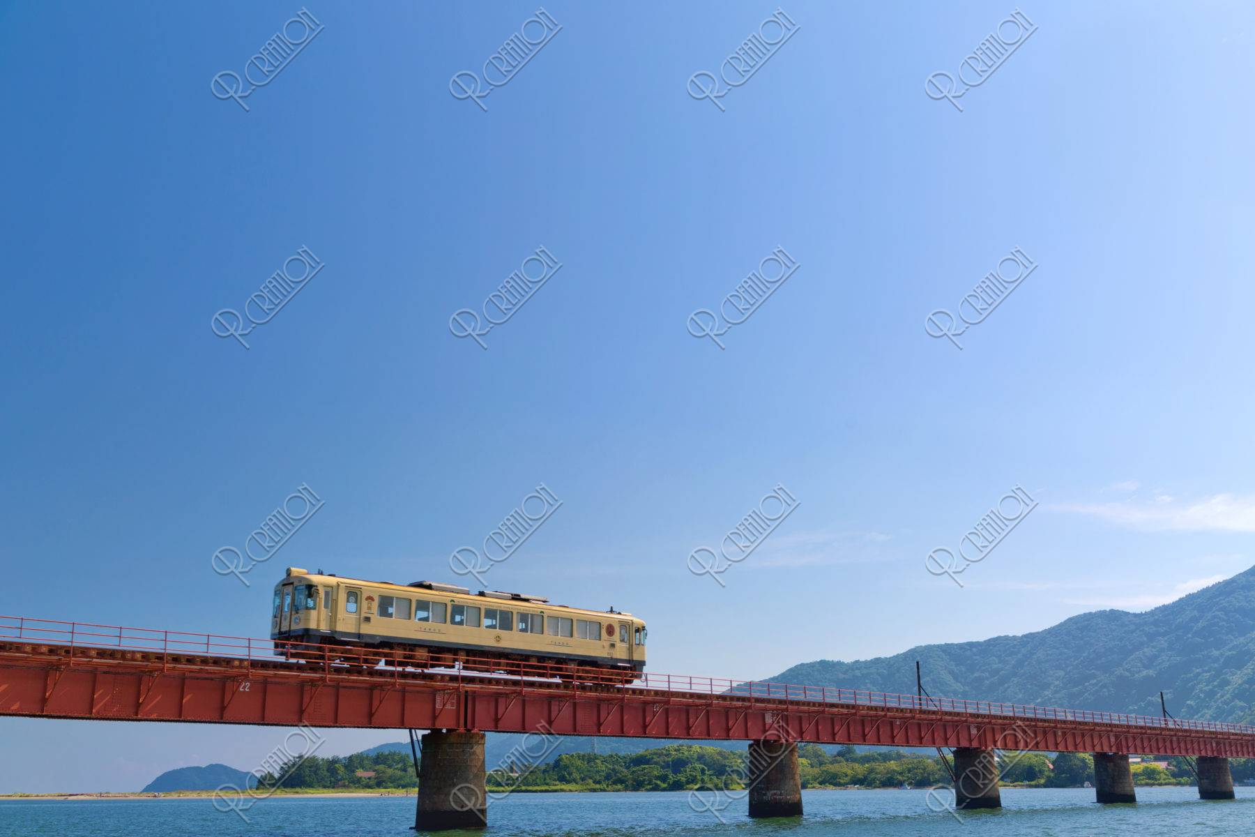由良川橋梁と京都丹後鉄道