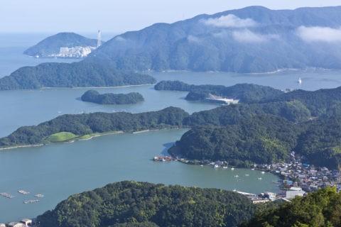 五老岳からの舞鶴湾