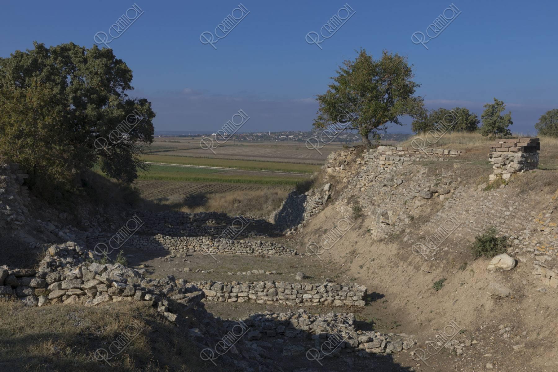 トロイ遺跡 シュリーマントレンチ