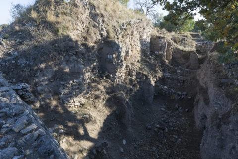 トロイ遺跡 9層の地層