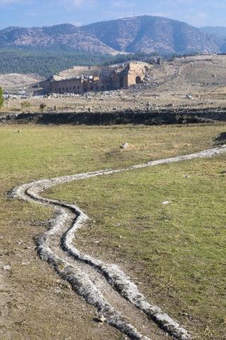 ヒエラポリス遺跡 温泉水路