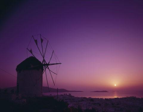 夕日 ギリシャ