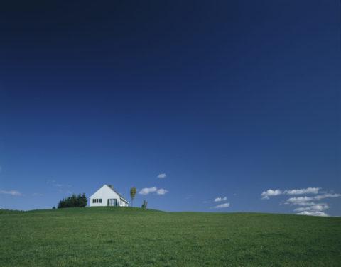 丘の上の白い家 バーモント
