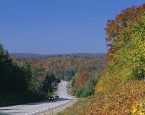 紅葉の道路 アルゴンキン州立公園L