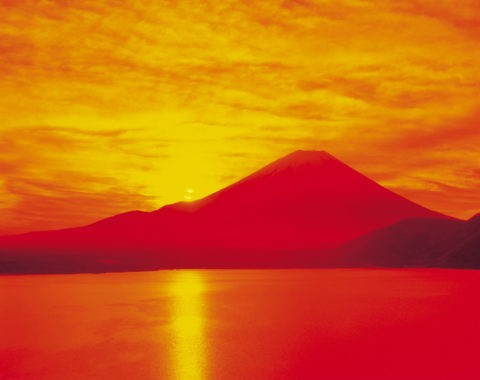 富士山 朝日