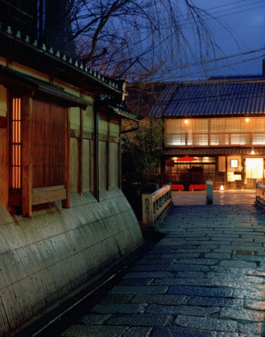 祇園 巽橋付近の夕暮