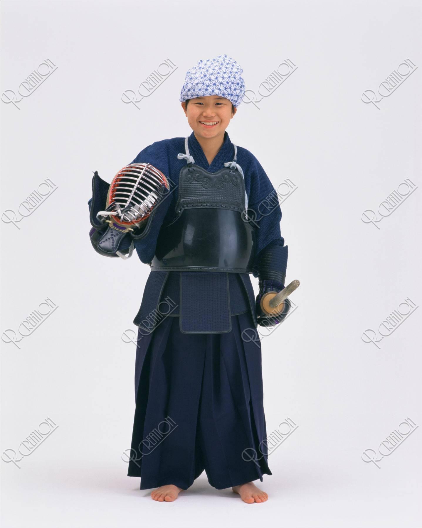 剣道着の子供