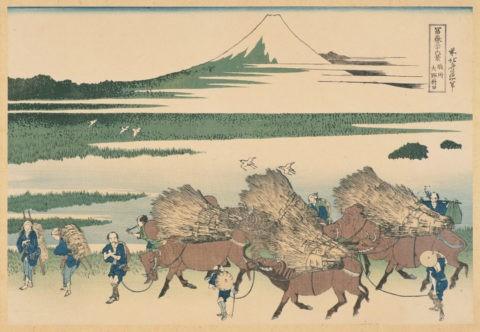 富嶽三十六景 駿州 大野新田