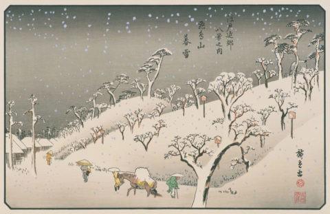 江戸八景 飛鳥山暮雪