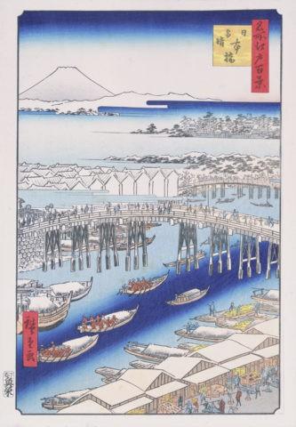 江戸百景 日本橋雪晴