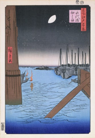 江戸百景 永代橋佃島