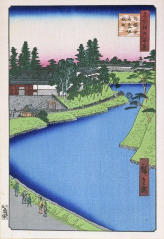 江戸百景 外櫻田辧慶堀糀町