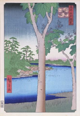 江戸百景 赤坂桐畑の景