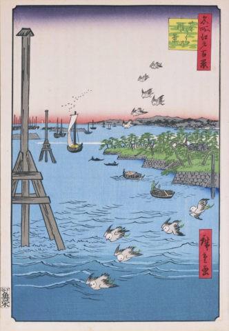 江戸百景 芝浦の風景