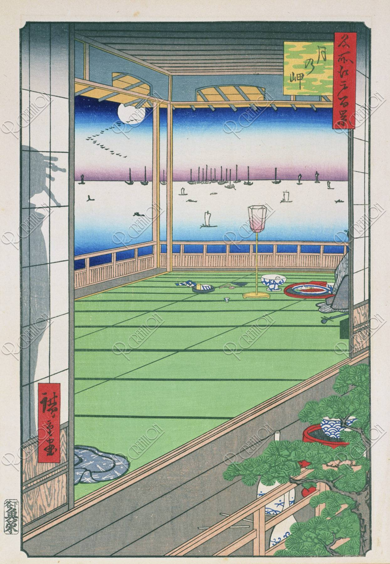 江戸百景 月の岬