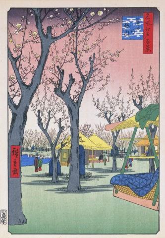 江戸百景 蒲田の梅園