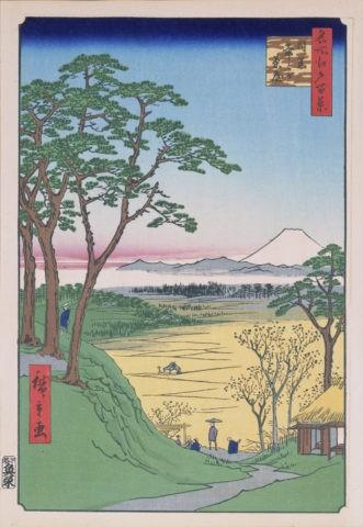 江戸百景 目黒爺が茶屋