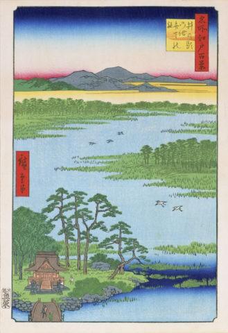 江戸百景 井ノ頭ノ池辧天の社