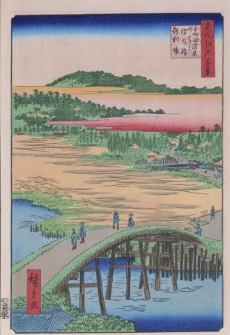 江戸百景 高田姿見の橋俤の橋