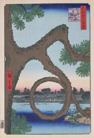 江戸百景 上野山内月の松