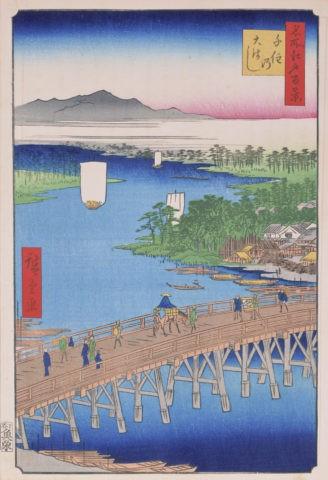 江戸百景 千住の大橋