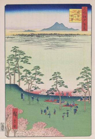 江戸百景 飛鳥山北の眺望