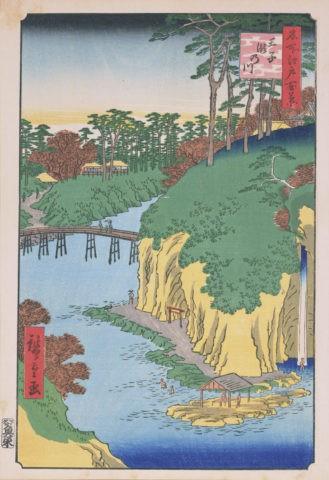 江戸百景 王子瀧の川