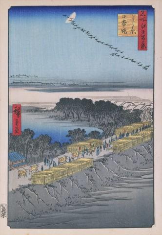 江戸百景 よし原日本堤