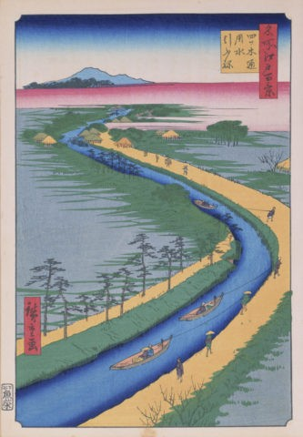 江戸百景 四ツ木通用水引舟